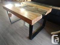 Beautiful live edge maple coffee table. Recently done