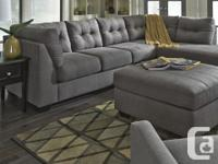 Brand New Maier Charcoal Sectional on Sale for 1209 2