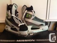 Never used men's size 10E Mission Fuel 85 skates.