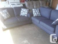 New Navy Condo Size Sofa and Loveseat For Sale Clean