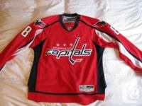 This is a BRAND NEW Ovechkin #8 Jersey for $120