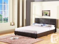 new Platform Queen Bed sale  $229 (Reg $429)  New bed