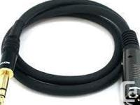 New Premier Series XLR Male to 1/4inch TRS Male 16AWG