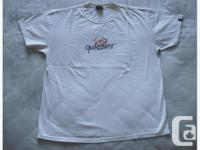 New Quiksilver white short sleeve T-shirt. It is brand