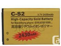 New Replacement battery for BlackBerry Curve C-S2 CS2.