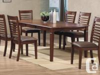 This New Solid Hardwood Table & 6 Chairs is on sale for