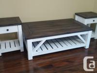 New custom made solid wood tables with authentic barn