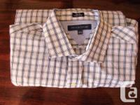 Long sleeves 1) Checked, light and dark blue, 16 1/2 -