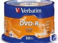 Verbatim DVD-R offer 4.7GB or 120 Minutes of write-once