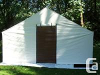New wall tent..top of line all options.. 14x16x5ft