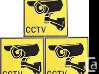 CCTV Security Surveillance Camera Waterproof Warning
