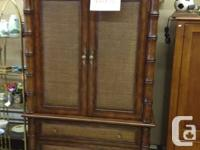 very nice wicker wardrobe and queen size headboard that
