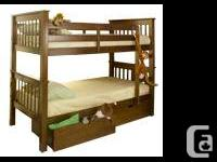 BUNKBEDS SOLID WOOD BRAND NAME NEW IN BOX !!  Single on