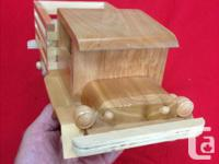 All new 2 - Handmade wooden trucks and 1 handmade