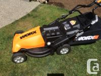 New Worx Cordless Lawnmower was in storage for a year