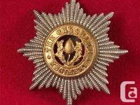 GB-POST WAR - THE CHESHIRE REGIMENT CAP BADGE 1966 -