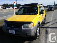 Make Ford Model Escape Year 2002 Colour Yellow kms