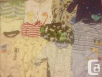 We have tons of baby clothing for sale. $60. for the