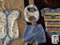 1: Two sets of overalls with matching bodysuit, $5 2: