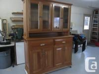 Hand made beautiful new solid Cherry Wood Cabinet . Top