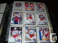 All sets from the famous McDonalds Hockey cards, only