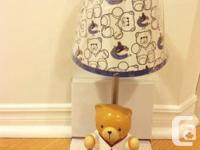 NHL Nursery Cute Bear Lamp - official licensed NHL -