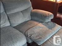 This is a nice green Barcalounger corduroy look couch