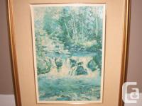 Selling a Keirstead print, titles: Falls, Snow Road. It