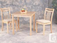 Solid Wood 3 pc. Dinette. Nice small condo size and