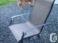 Powder Coated chairs that swivel and rock, very