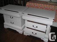 I have a set of high quality furniture night tables.