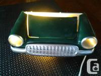 Very cool night light for boys room, car shaped, with