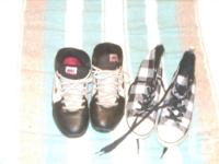 Kids Nike sneakers and also Old Navy sneakers size 4.