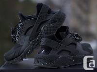 Nike ID Huarache Shoes/Sneakers Black/Black/Speckle sz