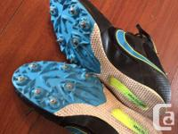 Nike Rival MD track cleats for sale. Worn 1/2 a season.