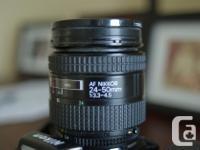 Nikkor F801S AF Film Camera Body complete with Nikkor