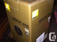 5.8X zoom lens, optimized for DX-format, VR (vibration