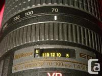 $425 PRICE INCLUDES ALL TAXES. Nikon 70-300MM AFS-VR