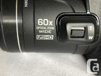 Complete set 16.1 mp Nikon Digital SLR with a Wide 60x