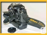 Nikon D200 video camera full with MB-D200 multi power