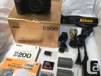 Pre-owned (original owner), Nikon D200 10.2 Megapixel, for sale  British Columbia