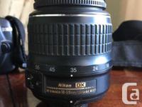 10 Megapixel Nikon D3000 with 18-55mm DX lens. I used