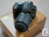 For sale  Nikon D3200 DSLR camera with 18-55mm 3.5-5.6