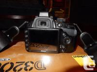 Selling my Nikon D3200 DSLR camera Comes with two