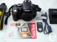 Selling a very nice D5100 with low shutter count, for sale  British Columbia