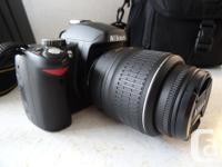 Nikon D60 Digital SLR Camera, with 18-55mm Lens, 55 -