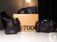 List of items:  -Nikon D7000 (comes with box, receipt