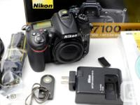 Selling a very nice Nikon D7100 in great condition with