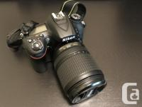 Nikon D7200 with Nikkor 18-140 mm lens. Basically new for sale  British Columbia