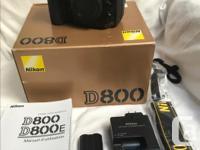 Pre-owned (original owner), Nikon D800 FX-format, for sale  British Columbia